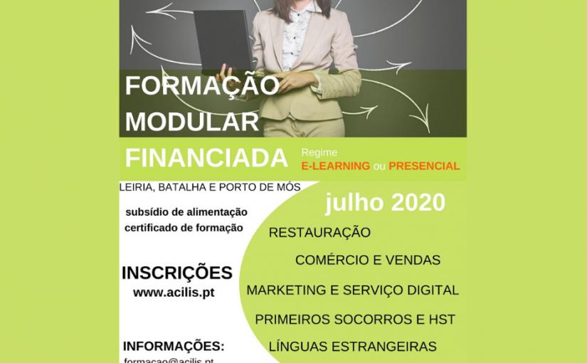 Formação modular financiada – julho 2020