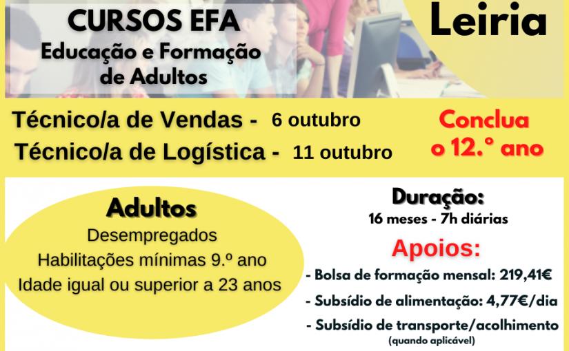 Cursos EFA –  Educação e Formação de Adultos